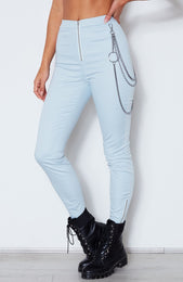 As If! Fitted Pants Baby Blue