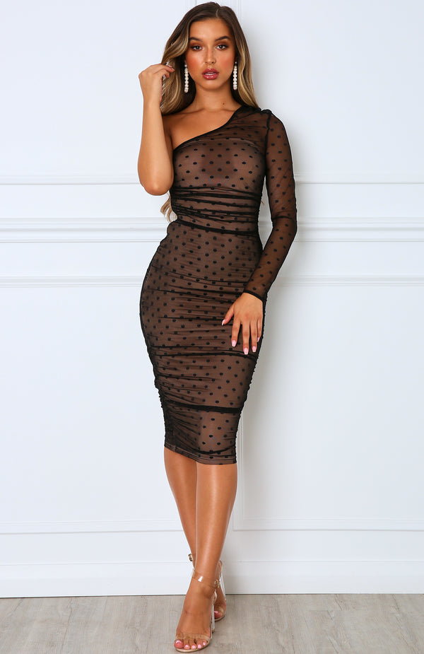 Espresso Martini Midi Dress Black