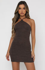 Leaving So Soon Mini Dress Chocolate