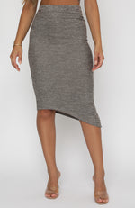 Fashion Space Midi Skirt Mocha