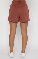 Along For The Ride Lounge Shorts Rust