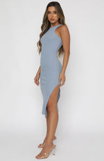 Meet Again Midi Dress Steel Blue