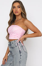 Girls Nation Crop Pink Monogram