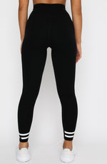 Work It Out Leggings White Stripe