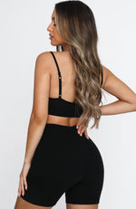 Nothin' But Love Crop Black