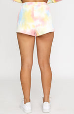 Stop And Stare Shorts Rainbow Tie Dye