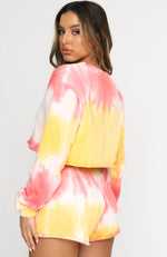 In Her Mind Cropped Sweater Sorbet Tie Dye