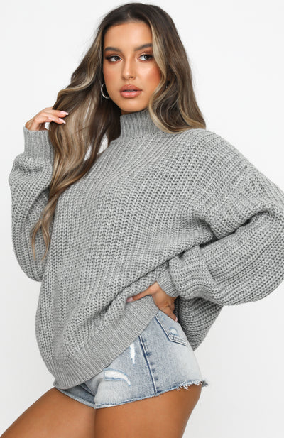 Upper East Side Knit Grey
