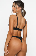 Oceana Bottoms Black Rib