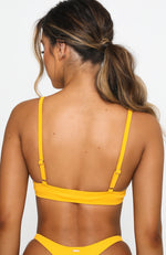 Sea Spray Bikini Top Marigold Rib