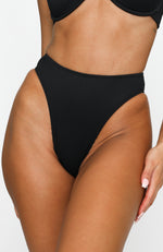 Lanai Bottoms Black Rib
