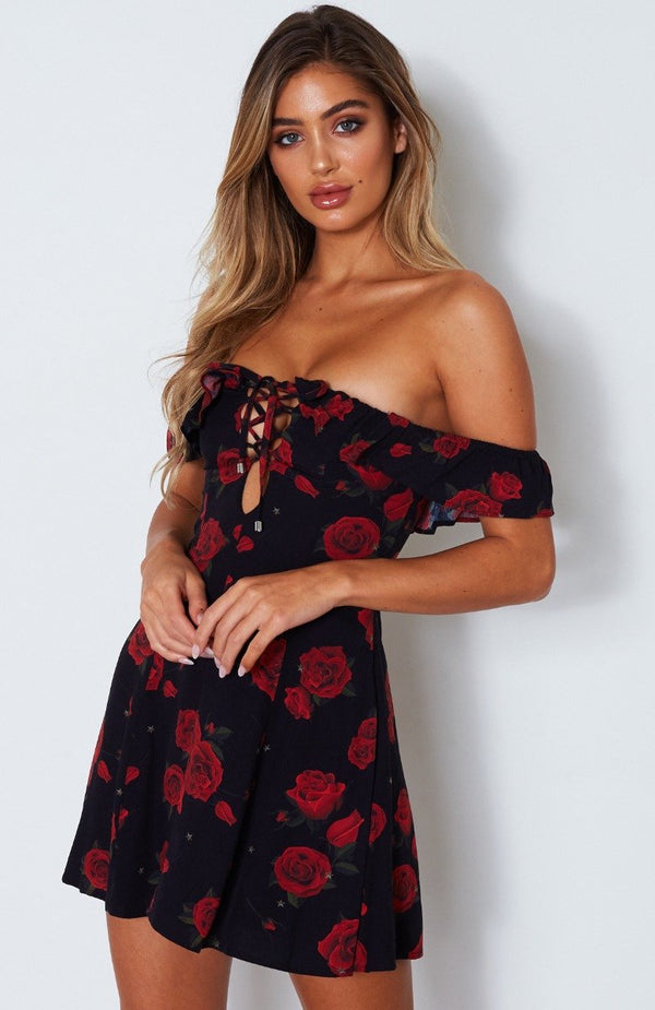 Something About You Dress Russian Rose Black