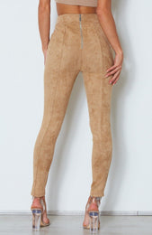 Soho Suede Pants Camel