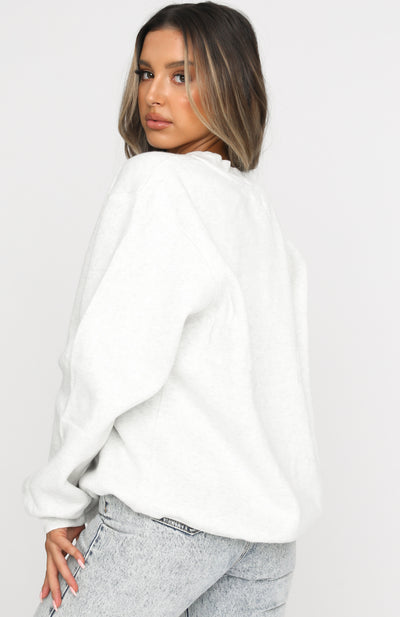 Steal Your Heart Oversized Sweater Grey Marle
