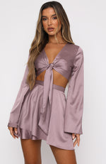 Such A Delight Long Sleeve Crop Mauve