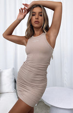 Chase The City Mini Dress Beige