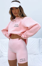 Essentials Club Oversized Sweater Pink