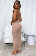 Change The Game Maxi Skirt Beige
