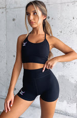 Get It Started Sports Bra Black