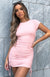 Weekend Dreaming Ribbed Dress Pink