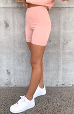Signature Bike Shorts Pink