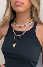 Hands Off Necklace Gold