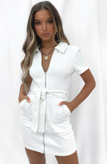 Misbehave Mini Dress White
