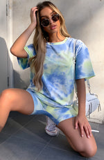 Established Tee Blue Tie Dye