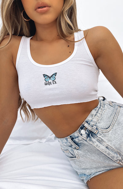 Edge Of Paradise Crop White