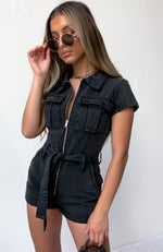 Summer Of Love Playsuit Acid Black