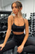 Power Hit Sports Bra Black
