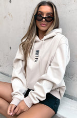 All In Oversized Hoodie Sand