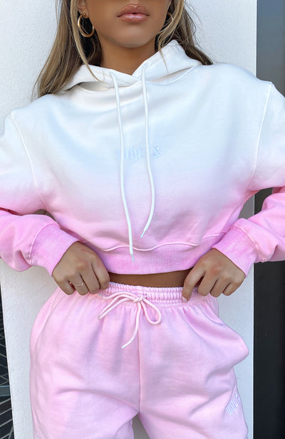 I Don't Care Cropped Hoodie Candy