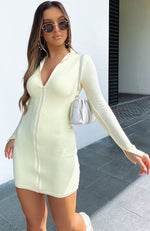 Lost In Your Eyes Long Sleeve Mini Dress Butter