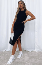 Meet Again Midi Dress Black
