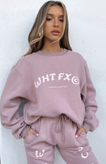 Model Watch Sweater Mauve