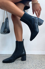 Orsola Ankle Boots Black Gecko