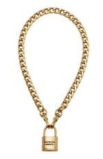 Locked Up Necklace Gold