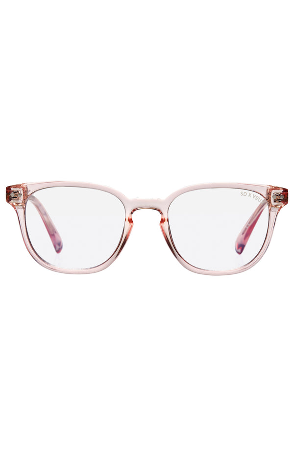 Sissy Werk Glasses Clear Pink