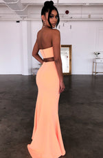 Steal The Night Maxi Skirt Peach