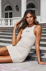 Self Love Club Waffle Mini Dress Sand