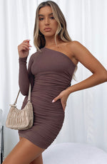 Summer Time Mini Dress Chocolate