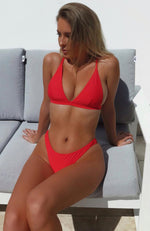 Bianco Bikini Top Red