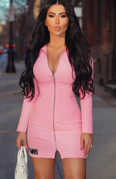 Close Encounter Blazer Dress Pink
