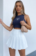 Think You Know Mini Skirt White