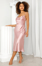 Be My Lover Midi Dress Rose