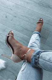 Lucca Heels Blush Suede
