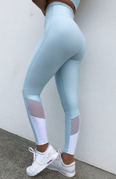 Alexis Panel Leggings Baby Blue