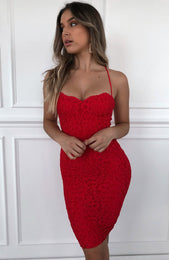 Near And Far Dress Red