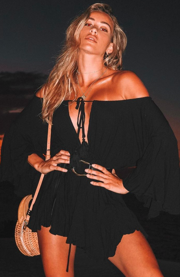 Summer Dreams Romper Black